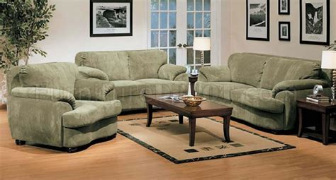 olive microfiber oversized living room set