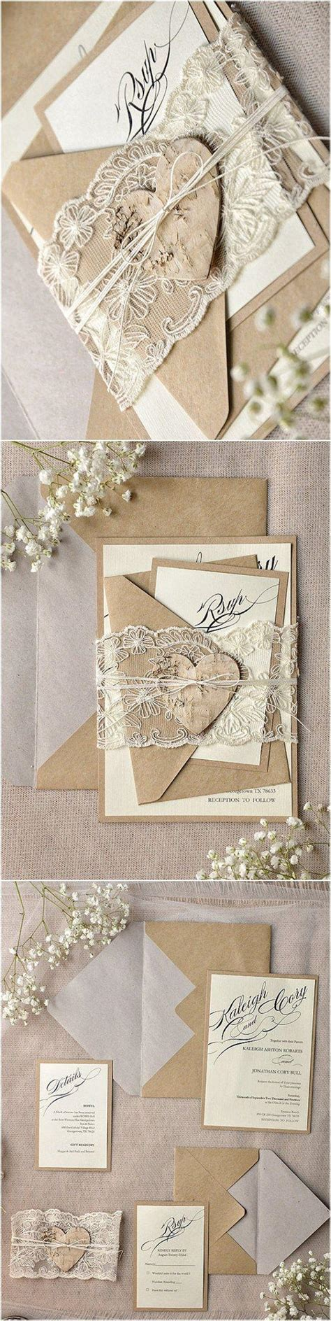 rustic calligraphy recycled lace wedding invitation kits 2472384 weddbook