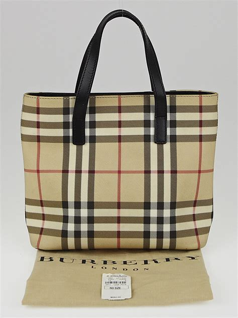 Burberry Check Canvas Tote by Burberry Check Coated Canvas Small Tote Bag Yoogi S