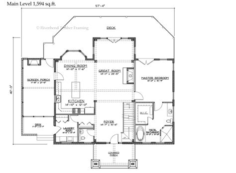 lodge floor plans cattail lodge timber frame home floor plan
