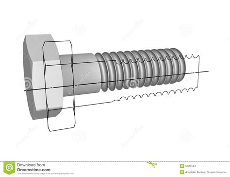 Drawing U Bolt by The Drawing Of A Bolt Stock Images Image 5296444