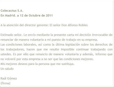 renuncia empleada domestica en mexico modelo de carta de renuncia voluntaria