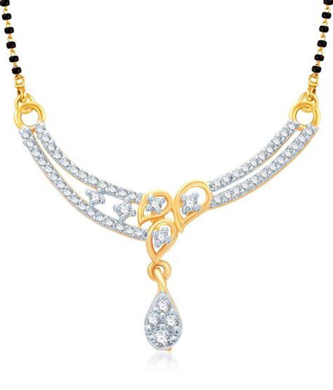 vk jewels three leaf design wedding mangalsutra pendant