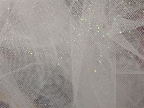 Decoration Net Material by White Soft Glitter Dust Net Bridal By