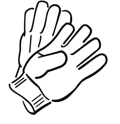 Black And White Gloves gloves coloring pages clipart best
