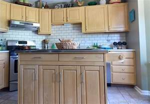 Painted Kitchen Backsplash by Painted Subway Tile Backsplash Remodelaholic