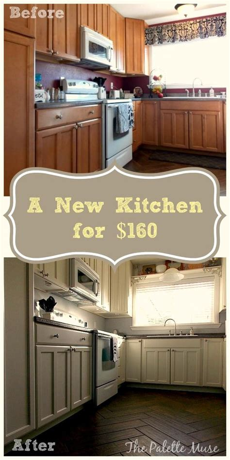 how to repaint kitchen cabinet repainted kitchen cabinets on pinterest cheap kitchen