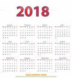 2018 12 Month Calendar 12 Months Calendar Design 2018 Stock Vector 826175574