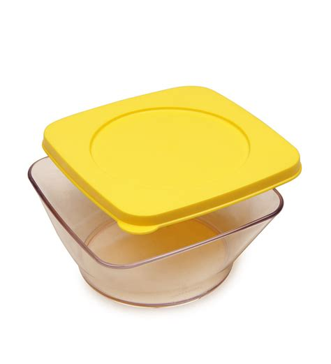 clear square bowl 1pc tupperware item overview