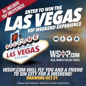 Las Vegas Sweepstakes - wsop las vegas vip weekend experience sweepstakes
