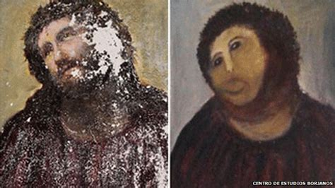 Painting Restoration by Fresco Restoration Botched By News