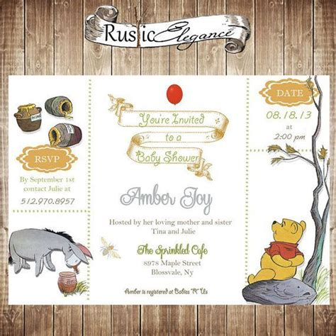 Classic Pooh Invitations Baby Shower by Classic Pooh Baby Shower Invitations Winnie The Pooh