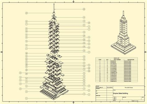 Online Plan Drawing empire state building lego architecture autodesk online