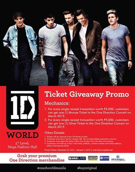 Concert Ticket Giveaways - 1d world store philippine concerts