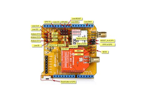 Arduino Stackable Header Shield 4p 4 Pin 254mm 3 lora gps shield for arduino from dragino tech on tindie