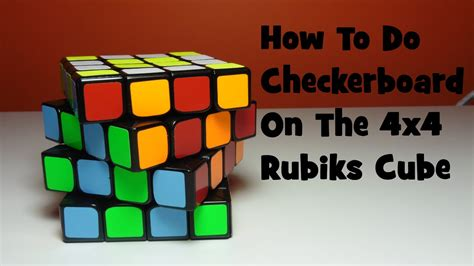 tutorial rubik 4x4 how to do checkerboard on the 4x4 rubik s cube tutorial