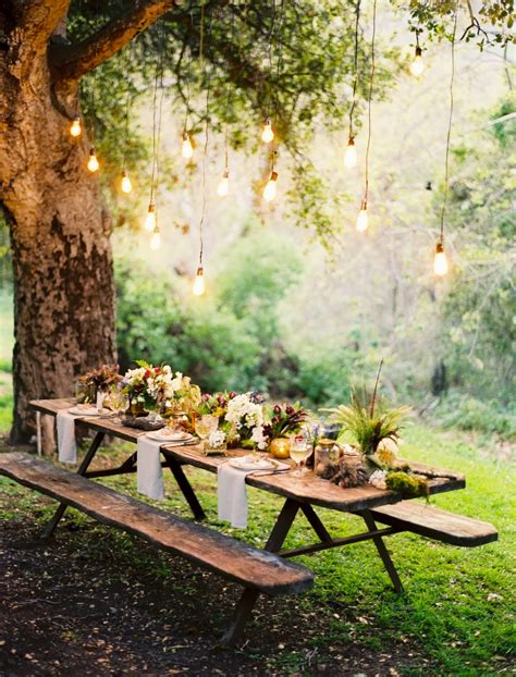 two men and a little farm picnic table under tree inspiration thursday