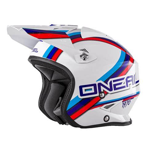 Trial Motorrad Helm by O Neal Slat Trial Circuit Motorrad Helm Wei 223 Blau Rot 2018