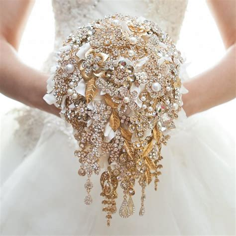 Wedding Bouquet And Gold gold brooch bouquet wedding bouquet bridal bouquet