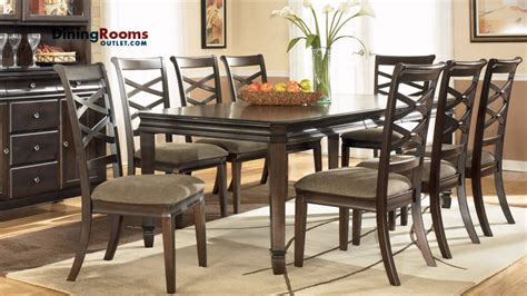 ashley hayley  pc rectangular extension dining table set youtube