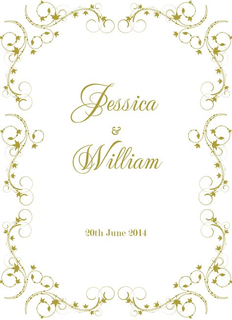 New Wedding Border by Wedding Card Border Design Wedding Dress Decore Ideas