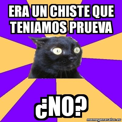Anxiety Cat Meme Generator - meme anxiety cat era un chiste que teniamos prueva 191 no