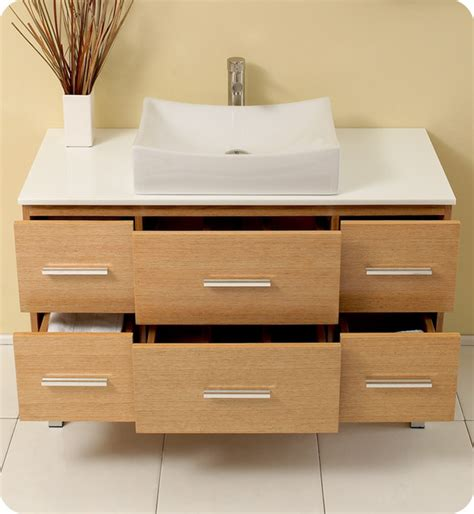 modern wood bathroom vanity 43 5 quot distante single vessel sink vanity natural wood