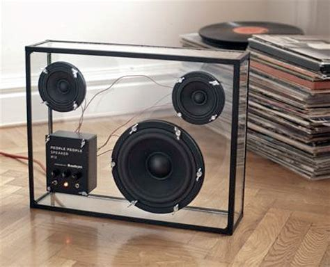 modern speakers transparent speaker