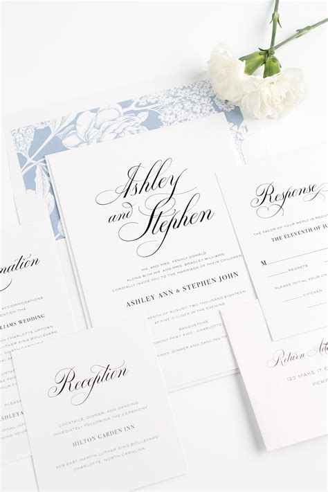 wedding templates for blogger calligraphy wedding invitations in serenity blue wedding