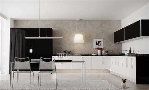 black white kitchen diner interior design ideas