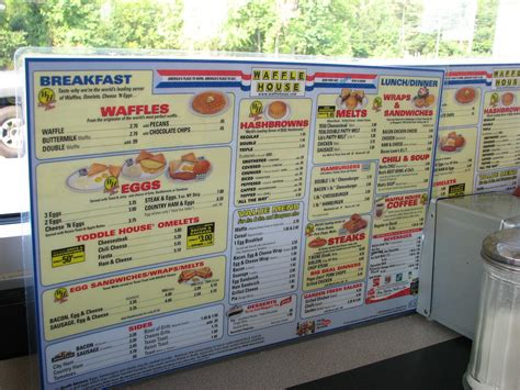 Waffle House Menu With Prices by Waffle House Menu Prices