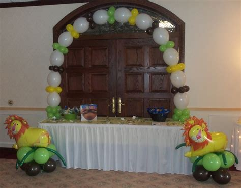 Jungle Theme Baby Shower Balloons by Top Jungle Baby Shower Balloon Decorations Images For