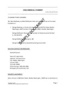 Child Medical Consent Usa Legal Templates Agreements