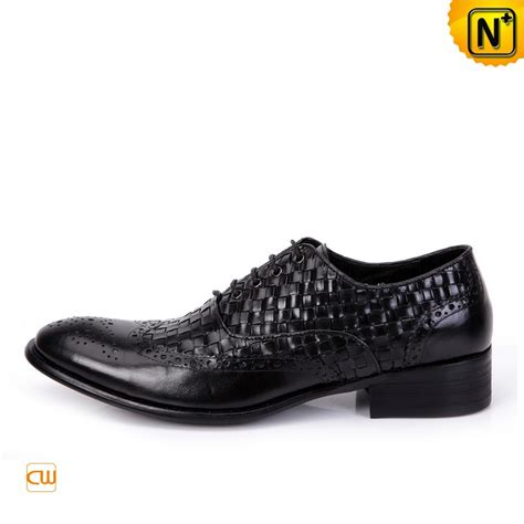 Mens Handmade Leather Shoes - mens handmade leather brogue shoes black cw761130