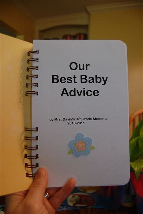 17 best ideas about baby shower advice on pinterest a book of kids best baby advice cute class gift for