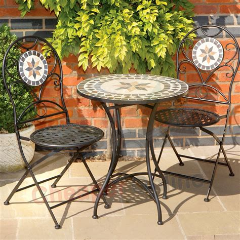 tuscany 3 piece 2 person mosaic tile garden furniture
