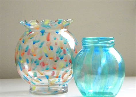Painted Glass Vases Homework A Creative Blog Etceteras Painted Glass Vase