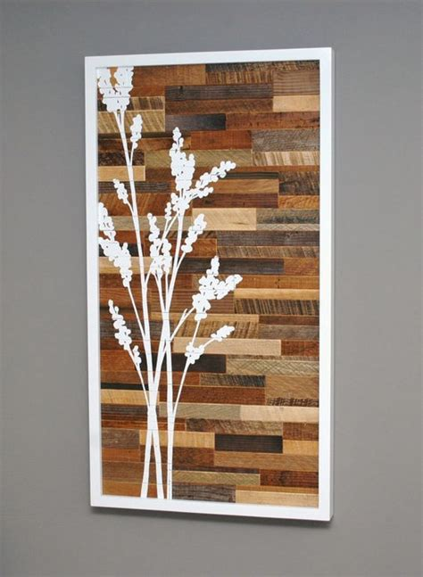 diy wood craft ideas reclaimed wood wall stenciling woods and woodworking