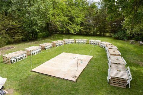 my diy wedding reception pallet dance floor pallets