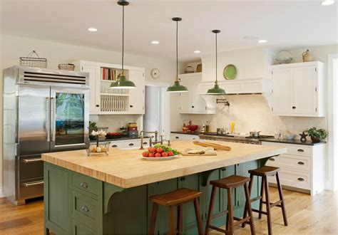 farmhouse kitchen with island wood shavings 187 island