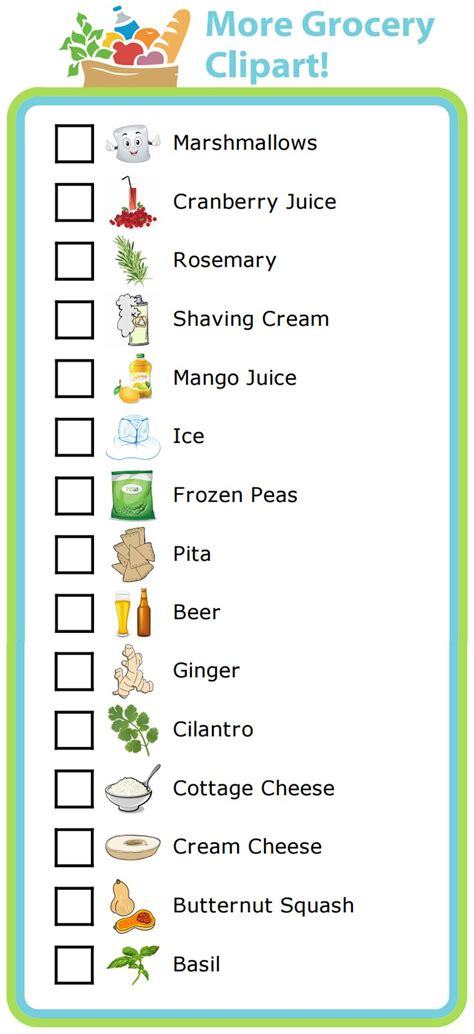 make your own printable shopping list 36 best new clipart activities for the trip clip images