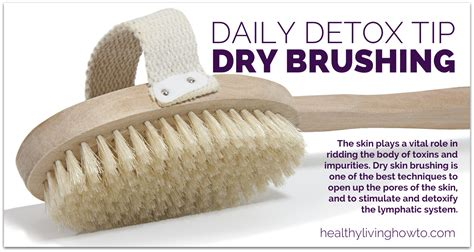 Detox Brush Does The Brush Matter by Daily Detox Tip Skin Brushing Healthy Living How To