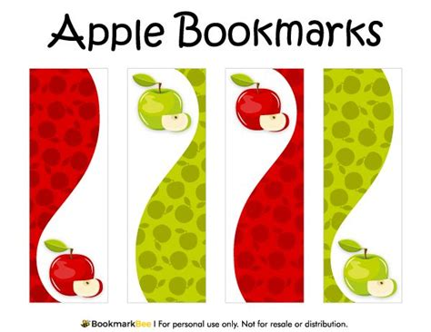 Bookmark Template For Apple Pages | free printable apple bookmarks download the pdf template