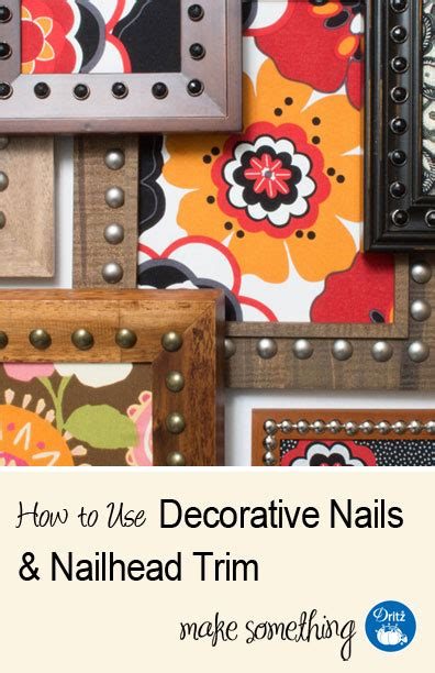 Dritz Home Decorative Nailhead Trim by Diy Home Decorating How To Use Decorative Nails