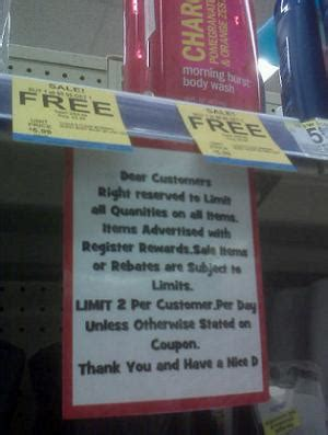 Imposed Limits 2 by Walgreens In Some Areas Impose Limits