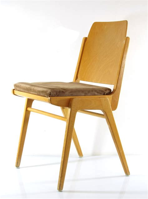 Plywood Chairs by Cees Braakman Vintage Fifties Pastoe Sm05 Chair