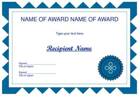 printable art awards certificate template free clipart best