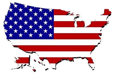 united states map with flag free stock photo
