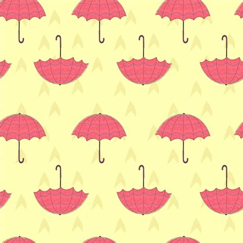 Payung Motif Flower Umbrella Background Colored Repeating Decoration Free