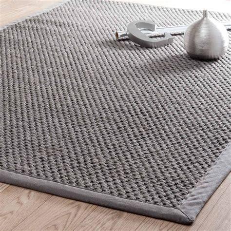 teppiche 160x230 bastide sisal woven rug in grey 160 x 230cm maisons du monde